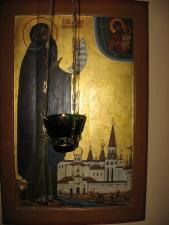 Икона в келье св. Корнилия