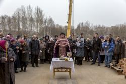 Молебен перед началом строительства 2014