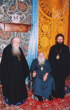 Митрополит Симон, архиепископ Михей, архиепископ Кирилл. Толгский монастырь 2003 г.
