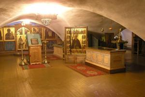 Нижний храм с мощами преподобного Димитрия
