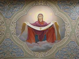 Покров Пресвятой Богородицы (фреска)