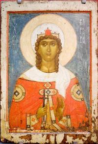 Св.Варвара(новгородская икона)