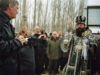 Освящение начала строительства нашим Архиепископом Кириллом